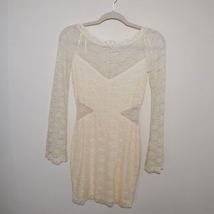 Free People Cream Lace Boho Dress